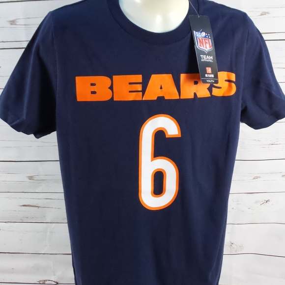 Big 6 Chicago Bears Tee Cutler Youth Medium 10 12 b2f5a6f05